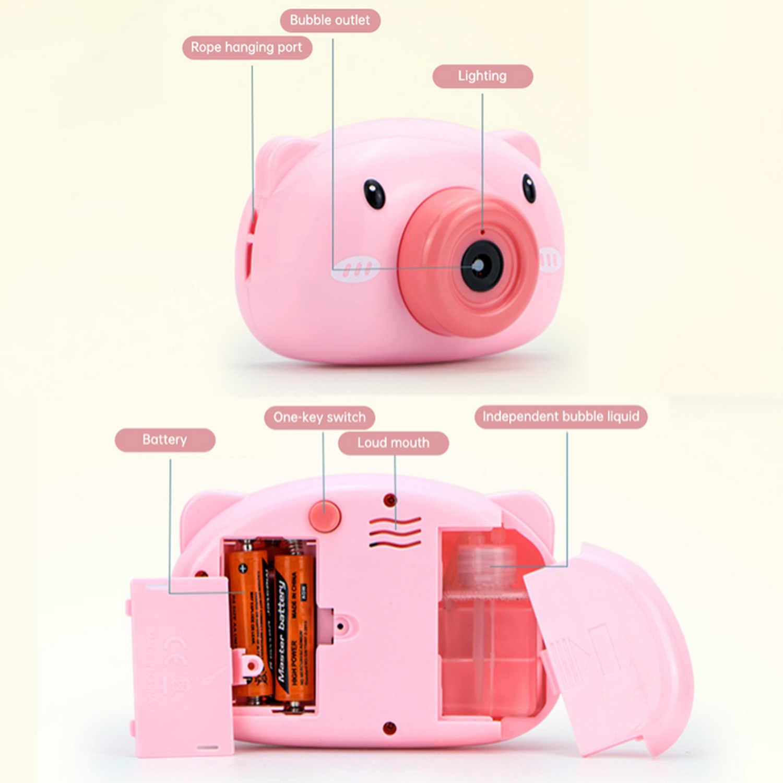 Otomatis Mesin Bubble Lucu Babi Kecil Musik Bertiup Pembuat Sabun Mainan untuk Anak-anak Anak-anak Balita Mandi Luar Ruangan Indoor Partai Permainan