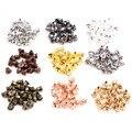 200 шт. высокое качество, серьги-пули, классические, 8 видов цветов, металлические серьги, заглушка, серьги, настройки, базовые шпильки для ушей