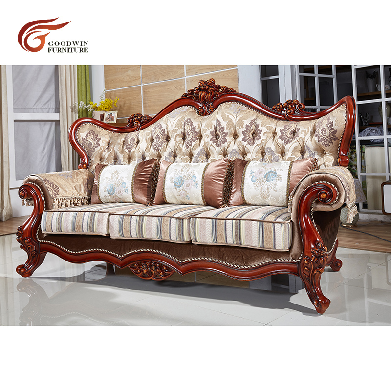 Antique Wood Frame Leather Sofa Sets Hot Sale Classic Sofa WA538|Living  Room Sofas| - AliExpress