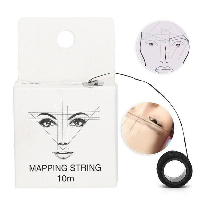 10m Brow Line String Pre-inked Eyebrow Marker Thread Tattoo Brows Point For Mapping New Microblading Eyebrow Marker