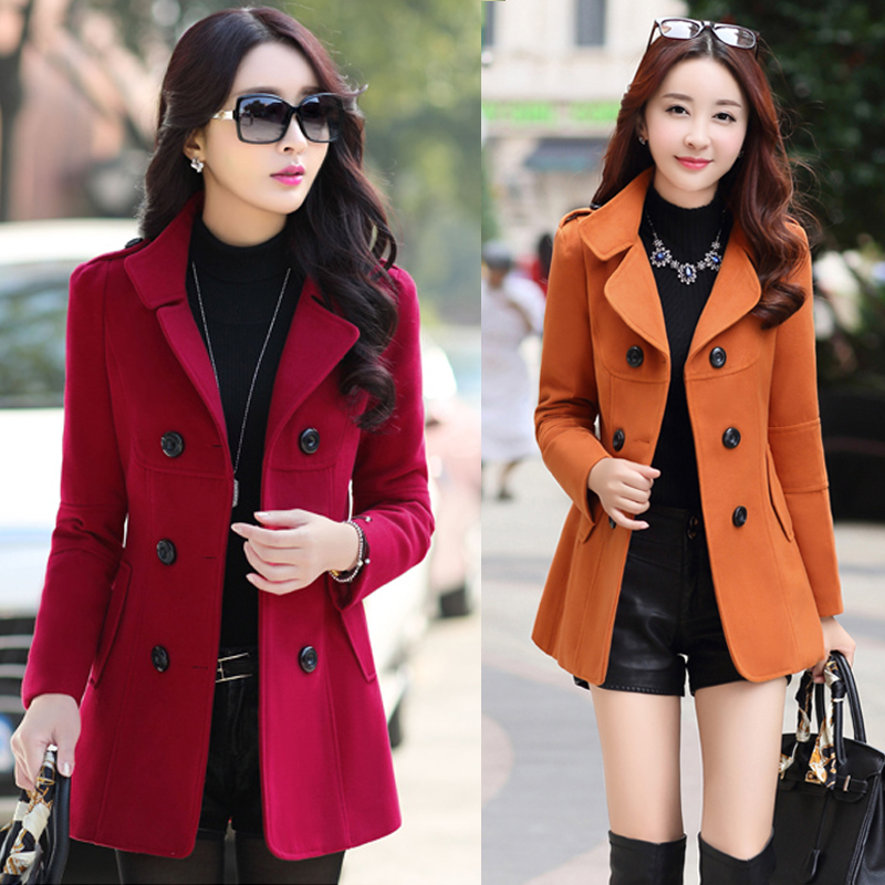 Women Spring Double-Breasted Button Blazers Wool Coat Blaser Femenino Casual Slim Multicolor Women Blazers Jacket Top 2019 Y015