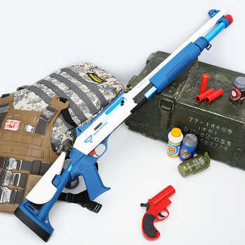 Odkryty pistolet wyrzutowy miękki pocisk pistolet do zabawy dzieci interaktywne gry wewnątrz i na zewnątrz zabawki miękki pocisk pistolet tanie i dobre opinie 12 + y 18 + CN (pochodzenie) Metal BOYS odlew Zabawkowy karabin pistolet Forbidden to face people No swallo