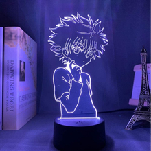 RANKBOOM 3d lampka nocna Anime Hunter X Hunter dla dzieci dziecko dekoracja sypialni lampka nocna Manga prezent Hunter X Hunter lampka nocna tanie tanio CN (pochodzenie) Noc światła Z tworzywa sztucznego Żarówki led Przełącznik HOLIDAY 0-5 w LED NightLight LAVA LAMP atmosphere Light for boy girl infant