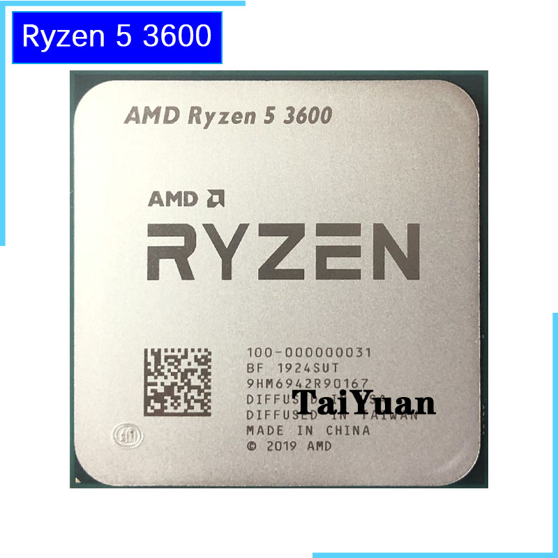 AMD Ryzen 5 3600 R5 3600 3.6 GHz Six Core Twelve Thread CPU Processor 7NM 65W L3=32M 100 000000031 Socket AM4CPUs   -