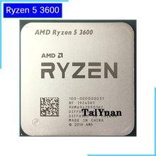 Amd ryzen 5 3600 r5 3600 3.6 ghz seis-núcleo processador cpu de doze linhas 7nm 65 w l3 = 32 m 100-000000031 soquete am4