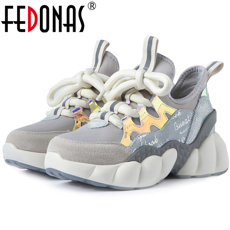 FEDONAS Newest Women Sneakers Quality Casual Shoes Woman Autumn Winter Flats Shoes Female Platforms Party Dancing Shoes Flats