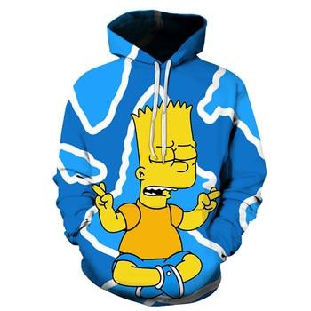 Men Women Anime Homer Simpson and his son Hoodie Cosplay Costume Warm Sweatshirts Unisex Cartoon Pullover Spring Casual Hoodie 1