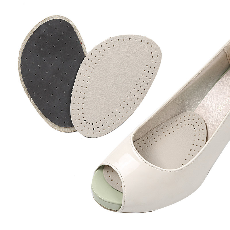 Thick Soft High-heeled Shoe Insoles Cowhide Anti-slip Half Code Pad Forefoot Cushion Cowhide Forefoot Pad Men And Women-