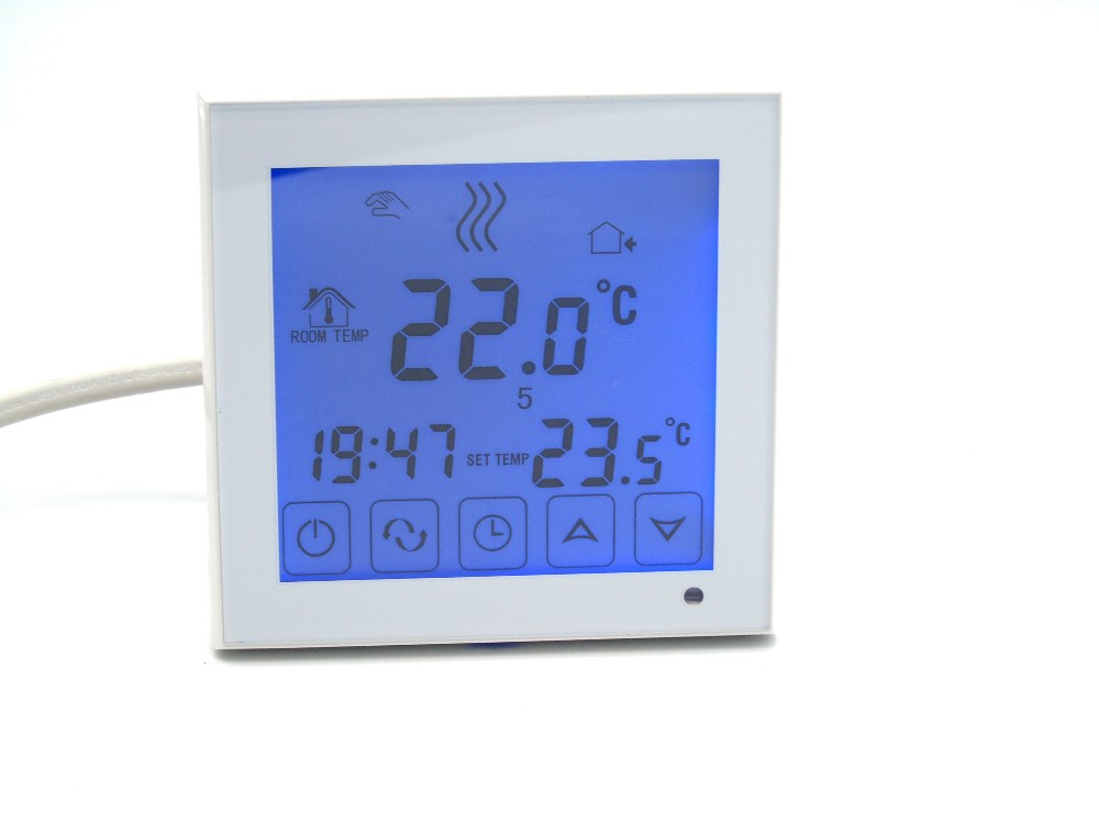 Termostato de calefacción por suelo radiante, controlador programable semanal, termostato de calefacción digital para caldera, piso eléctrico Termostato ZWave Plus para agua/calefacción eléctrica, termostato inteligente para hogar con ondas Z programable con temperatura y humedad integradas