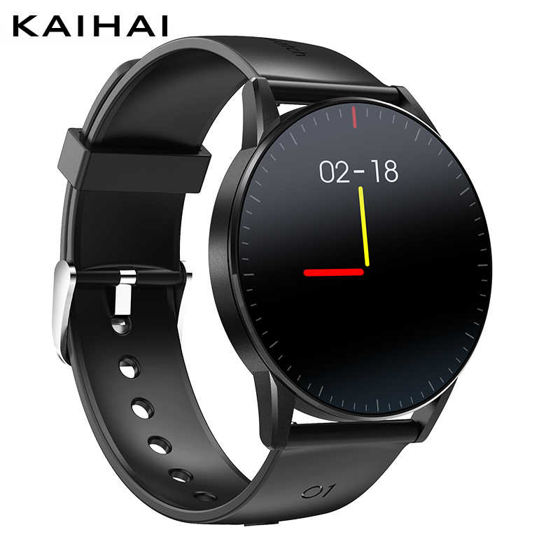 KaiHai montres intelligentes android montre intelligente smartwatch moniteur de fréquence cardiaque santé tracker chronomètre contrôle de la musique pour téléphone iphone