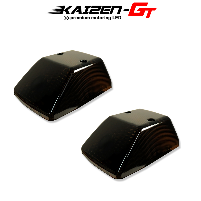 Kaizen 2PCS Gloss Black Front Turn Signal Light Covers For 1986-2018 Mercedes Benz W463 G-Class G500 G550 G55 G63 G65 Etc