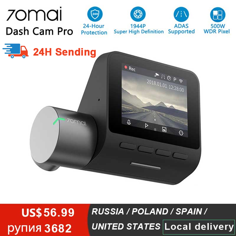 Xiaomi 70mai Pro tableau de bord caméra Full HD 1944P voiture caméra enregistreur GPS ADAS 70 Mai Wifi Dvr voiture 24H moniteur de stationnement 140FOV Vision nocturne