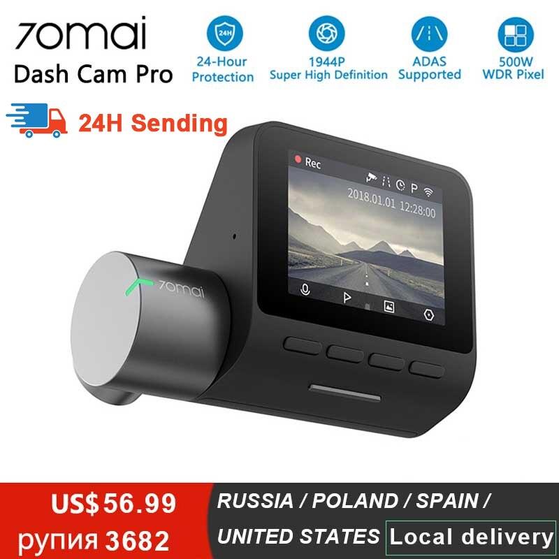Xiaomi 70mai pro traço cam completo hd 1944 p câmera do carro gravador gps adas 70mai wifi dvr carro 24 h monitor de estacionamento 140fov visão noturna