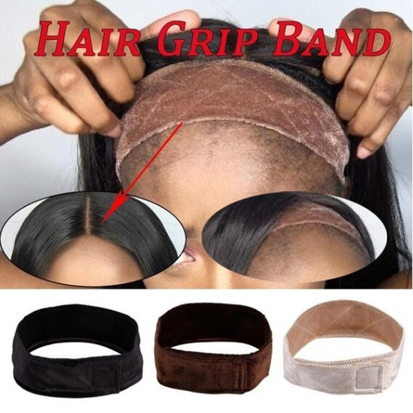 Women Non Slip Lace Wig Grip Band Adjustable Comfortable Velvet Headband Hair Scarf Gift Wig Hair Band Headband Wig Accessories