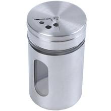 Нержавеющая Сталь мука чашка-просеиватель выпечки сахар, соль, перец, травяной шейкер банка бутылочка для хранения зубочисток