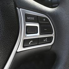 Estilo do carro volante botão quadro decorativo capa guarnição adesivos para bmw série 3/4 gt f30 f32 f34 acessórios interiores