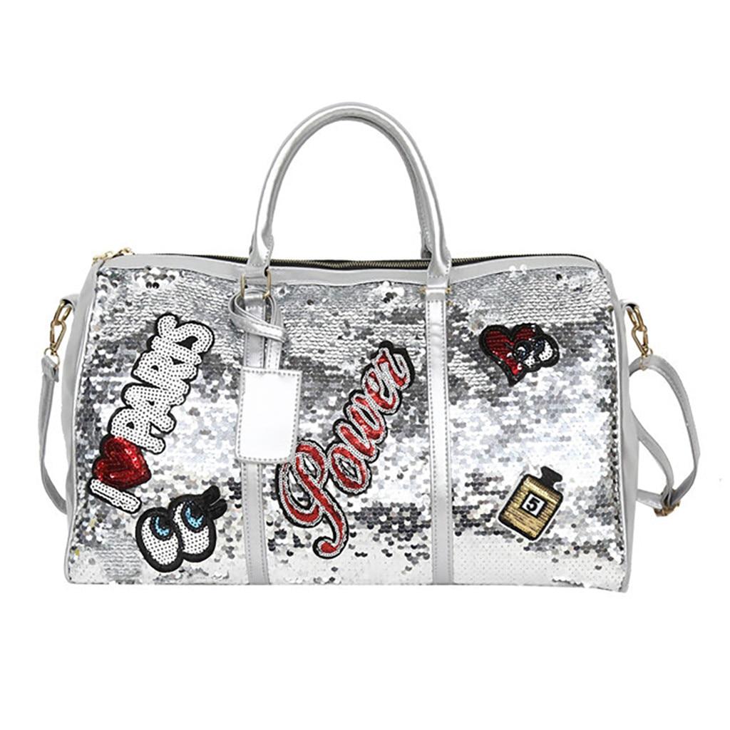 Unisex Duffle Bag Fashion Leisure Large Capacity Outdoor Black White Sport Bags Travel Luggage Bag Travel Bag Bolsa De Viagem