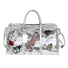 Unisex Duffle bag Fashion Leisure Large Capacity Outdoor Black White Sport