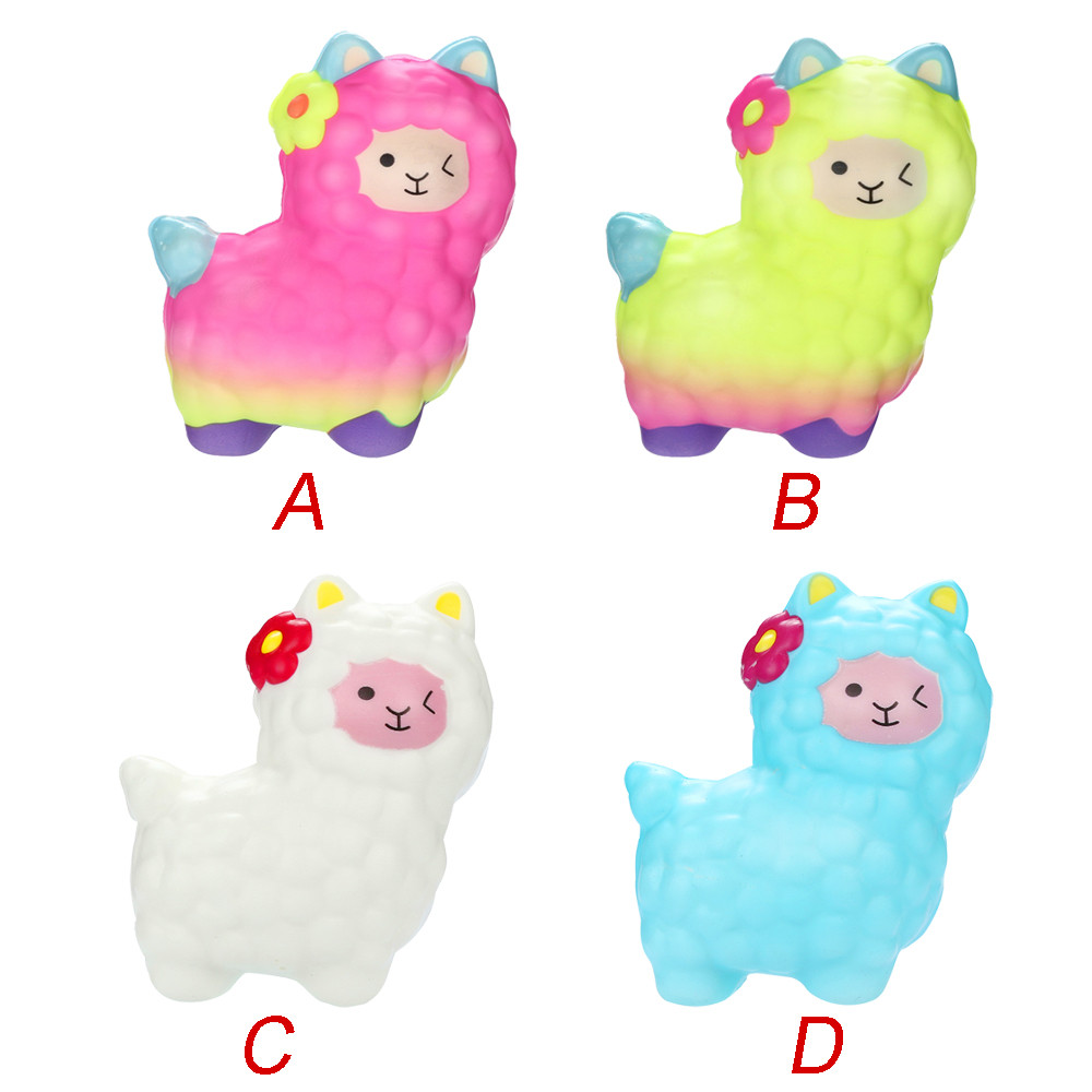 Squishies Simulation Animal Toys Adorable Llamas Slow Rising Fruits Scented Squeeze Stress Relief Toys L1216
