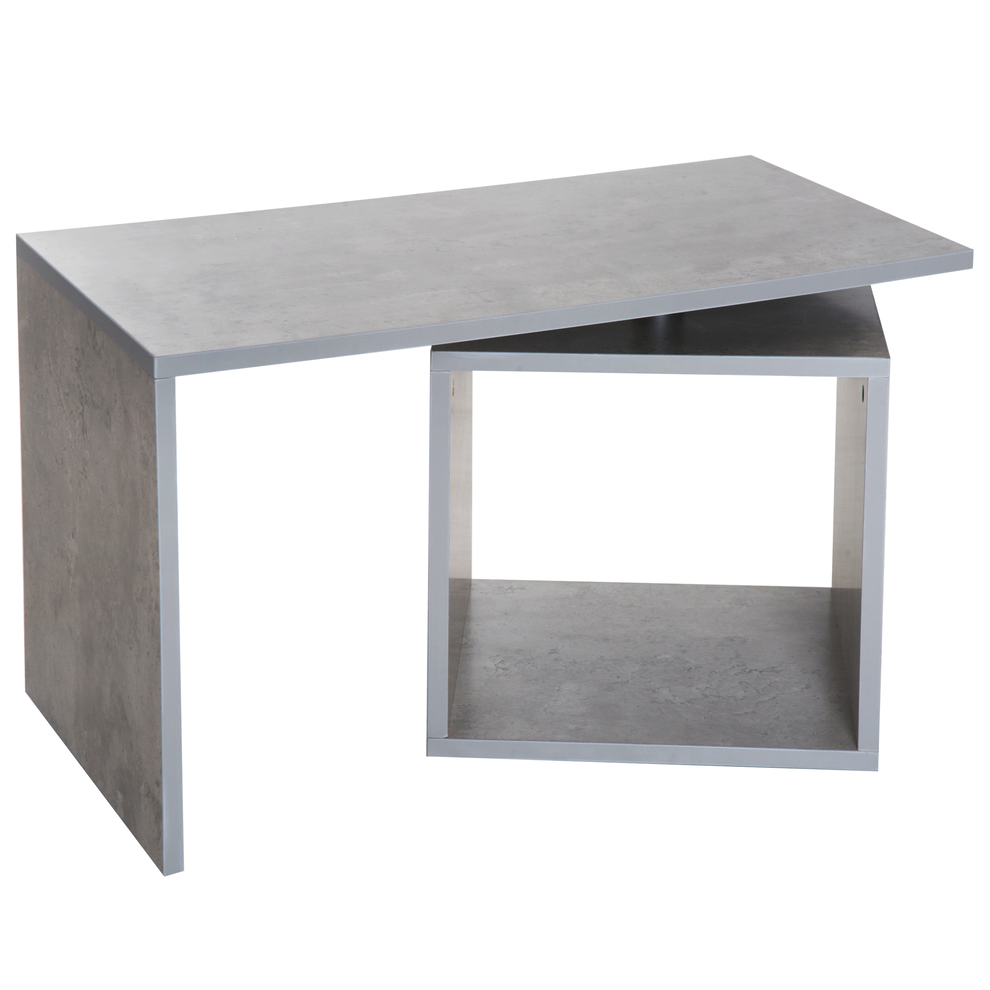 HOMCOM Coffee Table Living Room Coffee Table Modern Design With Compartment Storage Wooden 77 × 40 × 44 Cm Gray