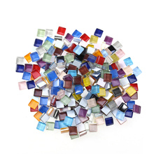 10mm 200g Mixed Mosaic Tiles for Crafts Crystal Mosaic Supplies (Ten Colors)
