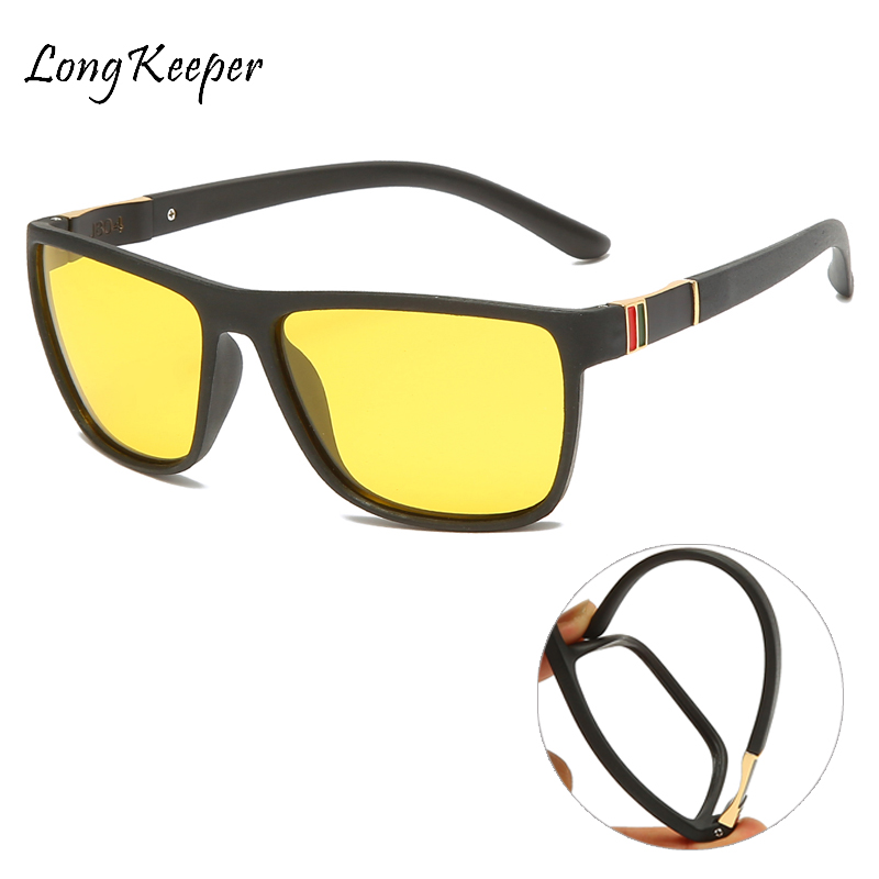 2020 Men Night Vision Driving Glasses Yellow Black Lenses Driver Safety Sunglasses Goggles Fashion Men Women Day Night Glass