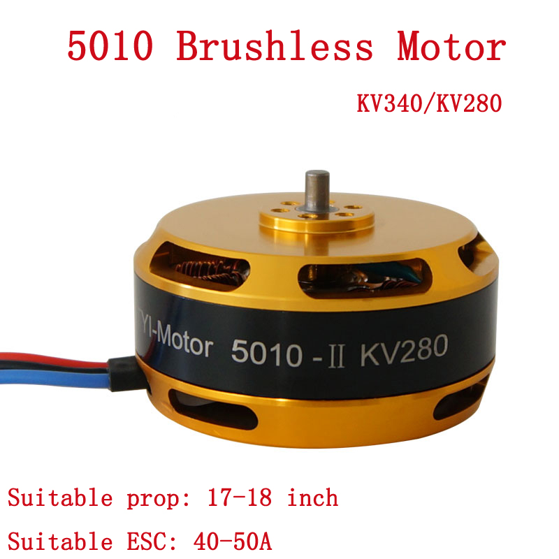1PCS <font><b>5010</b></font> High Power Drone Controller Motor KV340 KV280 Speed Brushless for RC Plant Agriculture UAV image