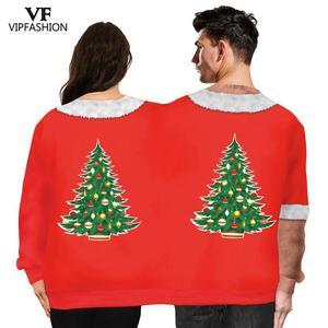 Image 2 - VIP אופנה חורף זוגות סווטשירט שני אדם יוניסקס בסוודרים שני אדם חולצות חידוש מכוער חג המולד חולצות זכר