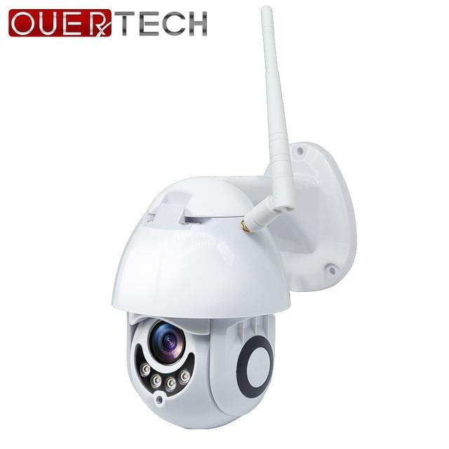 OUERTECH CCTV في الهواء الطلق IP واي فاي كاميرا 1080P HD 2MP كشف الحركة الأشعة تحت الحمراء للرؤية الليلية كامل اللون SD فتحة للبطاقات كاميرا بشكل قبة