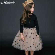 Sotida Girls Dresses 2017Summer Style Kids Princess Dress Children Clothing Half Sleeves Casual pattern Design for Girls Clothes