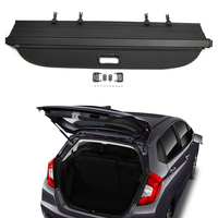 Car Rear Trunk Security Cargo Cover Shield Shade For Honda FIT Jazz 2015 2016 2017 2018 Black