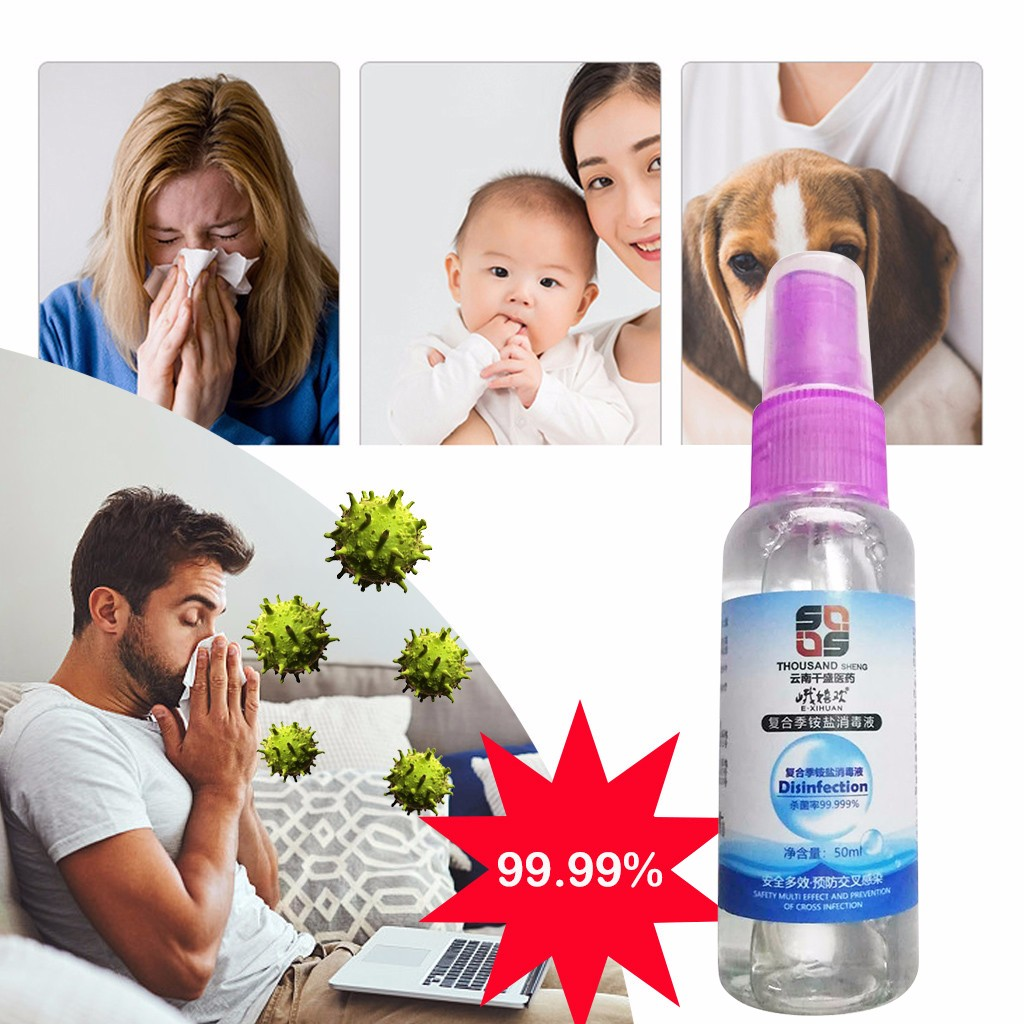 Cleanup Handsanitizer Sanitizer Cleaner Portable Household Soothing Spray 50ML 3