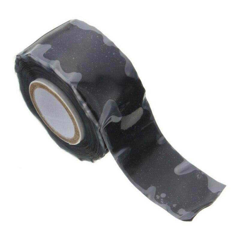 Многоцелевой самоклеящийся прочный черный каучук 1,5 м, силиконовая ремонтная Водонепроницаемая склеивающая лента, спасательный самофьюзи...