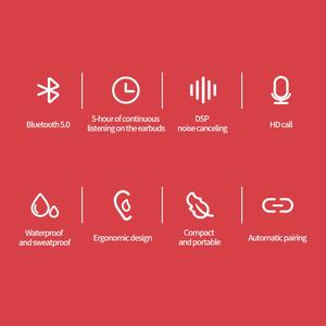 Image 3 - NILLKIN 진정한 무선 이어 버드 TWS 블루투스 5.0 이어폰 이어폰 IPX5 스포츠 헤드 세트 스테레오 자동 쌍 5 시간 재생 충전 케이스