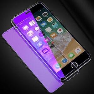 Image 2 - Chống Thủy Tinh Màu Xanh Trên Iphone 7 6S 5 5S Se 5C Đèn Tia Kính Cường Lực Dành Cho iPhone 7 8 Plus Cho Iphone X XS XR XS MAX Kính Màn Hình
