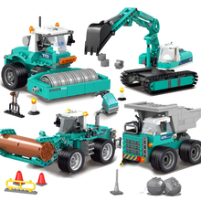 KAZI New City Series Construction Engineering Excavator Vehicles Bulldozer Model Building Blocks MOC Bricks Compatible Legoings цена в Москве и Питере