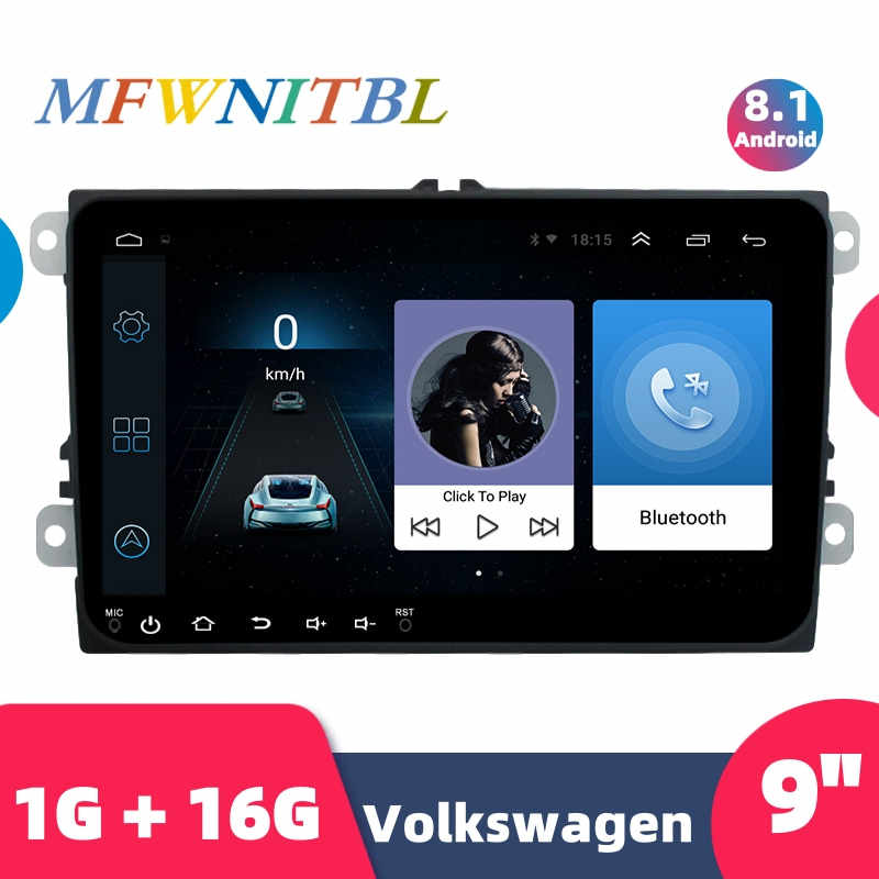 9 ''Autoradio Android 2 Din 8.1 Auto MP5 Multimedia Video Player Gps Auto Radio Car Stereo Audio 2DIN voor Volkswagen