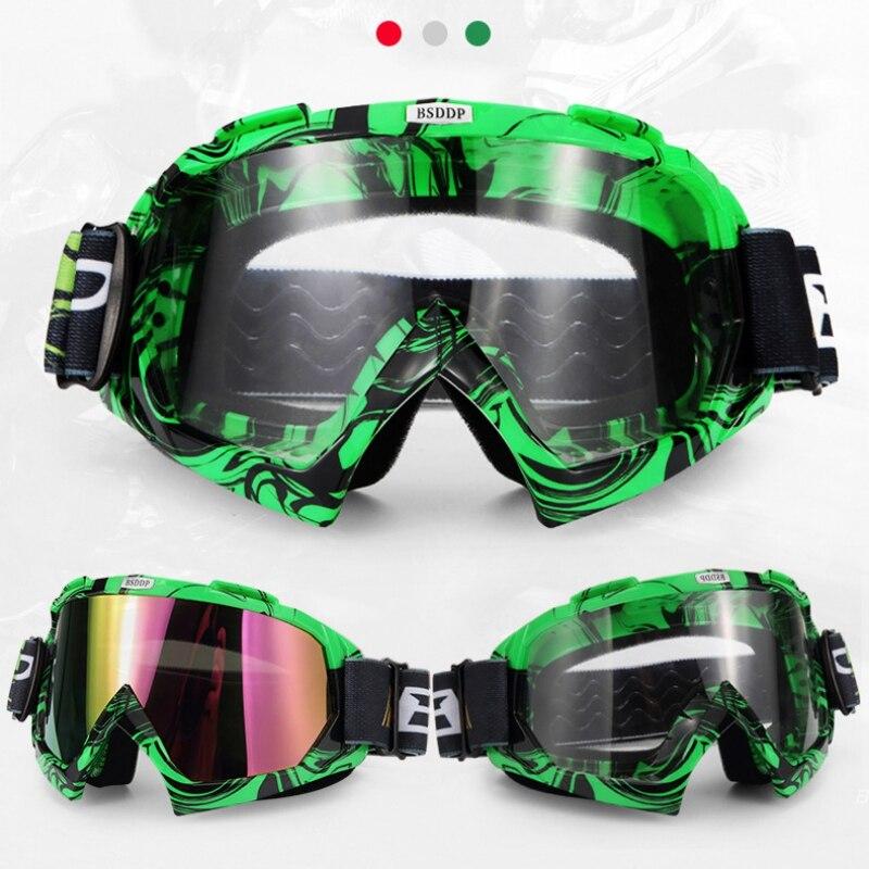 Motorcycle Glasses Ski Snowboard Goggles Windproof Dustproof Anti Fog UV Protection Cycling Road Racing Eyewear Outdoor Sports