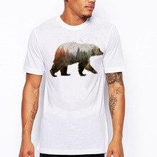 Short Sleeves O Neck California Bear T-shirt Men Clothing Summer Fashion Print Republic Vintage T Shirt