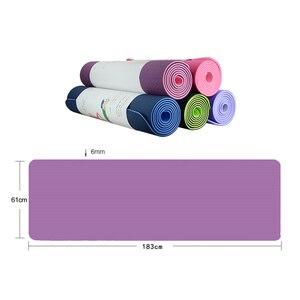 Image 3 - 6mm Yoga Mat 183*61cm No slip TPE Sports Gym Mat Fitness Esterilla Pilates Gymnastics Camping Colchonete Pad With Bag Bandage