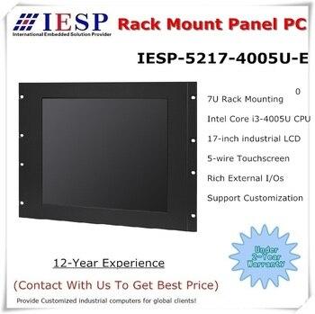 Rack Mount industrial panel PC, Core i3-4005U CPU, 17 inch LCD, 4GB RAM, 500GB HDD, 4*COM/4*USB/1*GLAN, Industrial HMI