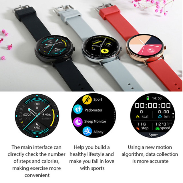 Smart Watch MT2502D Bluetooth V4.2 V3.0 Heart Rate Sports Watch IP68 Waterproof Rechargeable Smartwatch for Android iOS 4