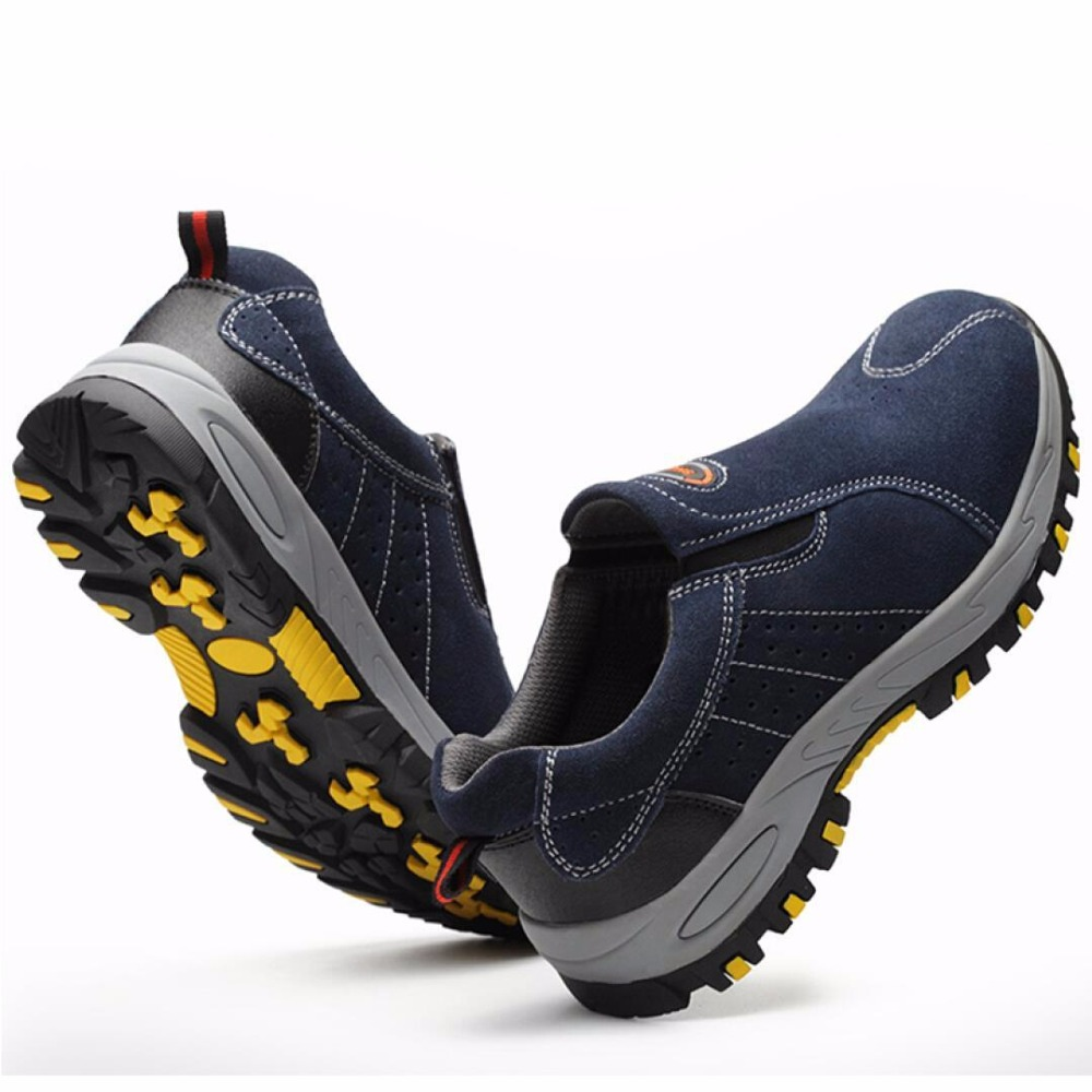 Steel Toe Safety Work Shoes Men 2019 Fashion Summer Breathable Slip On Casual Boots Mens Labor Insurance Puncture Proof Shoe 4