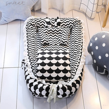 Portable Baby Crib with Quilt Nursery Travel Bed Foldable Toddler Bed Infant Carry Cot Multifunctional Storage Bag For Baby Care