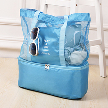 Ladies Fashion Lunch Bag Double Food Insulation Bag Camping Lunch Box Picnic Bag 4 Color