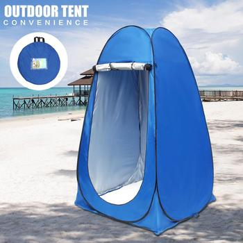 Portable Privacy Shower Toilet Camping Tent Pop Up UV function Summer Outdoor Bath Dressing Tent/Photography Tent Blue outdoor bathing tent pop up privacy tent instant portable shower tent camp toilet rain shelter for camping and beach
