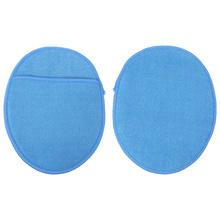 2 sztuk z mikrofibry gąbka do mycia praktyczne gąbka do czyszczenia przyrządy do czyszczenia samochodu tanie tanio none Polishing Sponge Car Wax Applicator Car Waxing Pad Car Waxing Sponge Pad