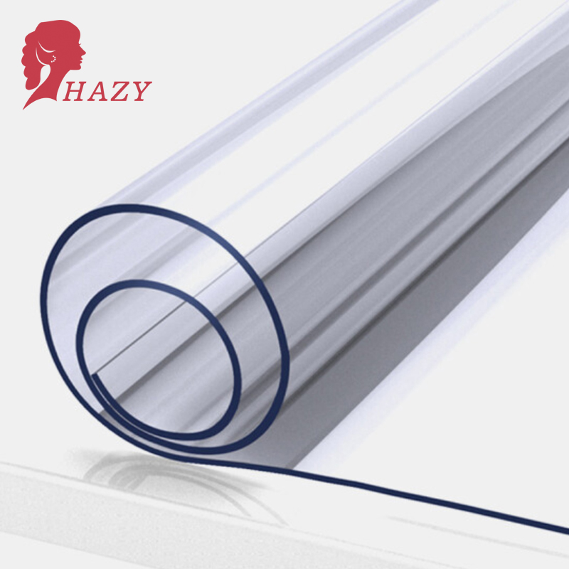 HAZY 2mm PVC Transparent Tablecloth Waterproof Rectangle Table Cover Mat Kitchen Pattern Oilproof Table Cloths Soft Glass Cloth