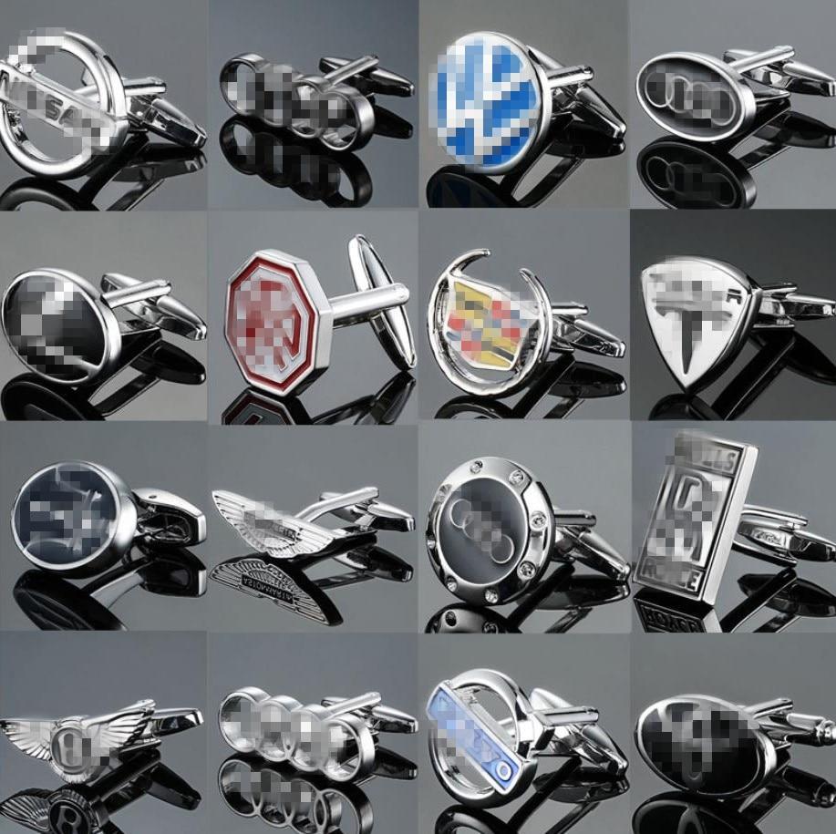 Fashion Luxury Car Logo Cufflinks With German Cars Japanese Cars American Cars Korean Cars British Cars French Cars For Car Fans