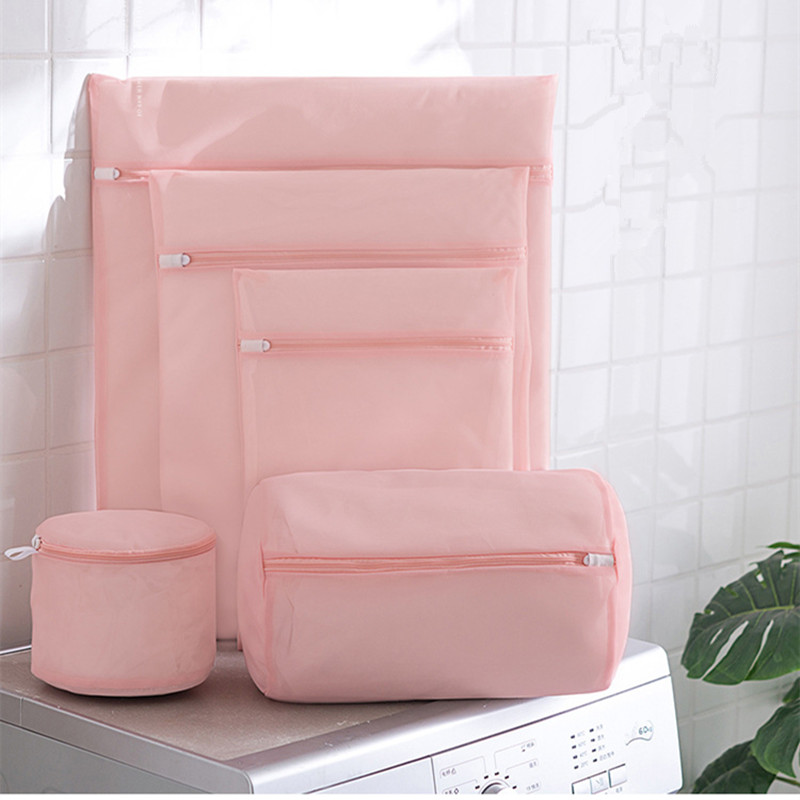 5/6 Sizes Clothes Laundry Bag For Washing Machine With Zipper Mesh Bag Net Bra Underwear Laundry Wash Bags Washing Bag